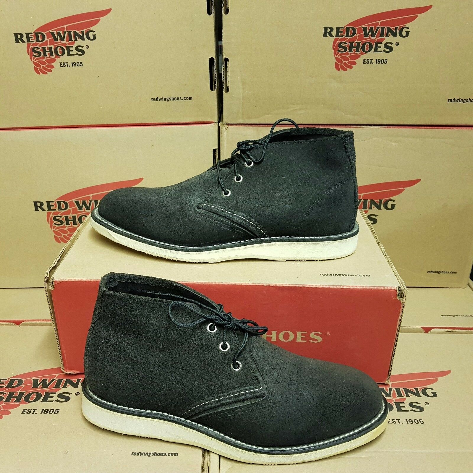 RED WING SHOES 3147 Work Chukka men's boots UK 8 US 9 EUR 42 (pv 259 )
