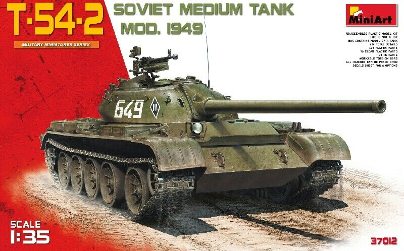 T-54 2 Mod. 1949 Tank 1 35 Plastic Model Kit MINIART