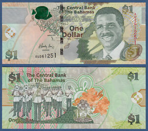 71a Amerika Radient Bahamas 1 Dollar 2015 Unc P Papiergeld Welt