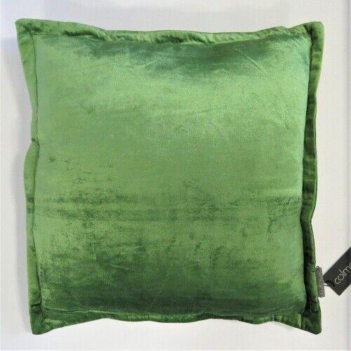 Kissen Deko Zier Sofa Aspen Grün Samt 50 x 50 cm Reißverschluss Colmore
