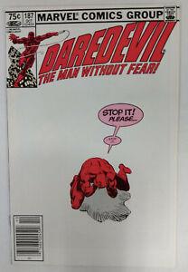 DAREDEVIL Vol 1 #187  1st Printing - CANADIAN Newsstand     / 1982 Marvel Comics