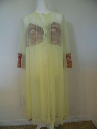Vintage Faerie Surelock Yellow Sheer Robe with Mat
