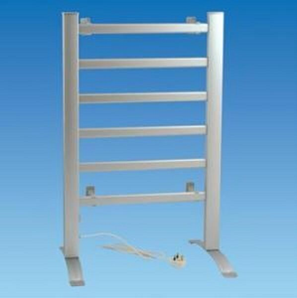Heated Towel Rail Sirocco 6 Bar 100 Watt - 240 Volt Free Standing - Caravan Home