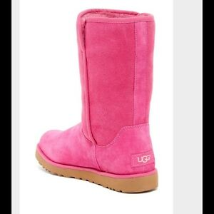 pink ugg style boots