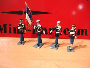 Cbg Mignot Ecole Gendarmerie Gendarme Garde Au Drapeau Figure Lead Toy Soldier