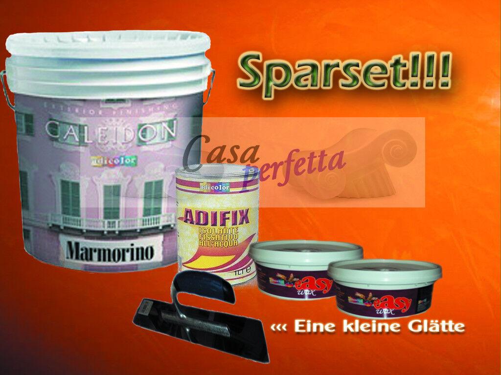 Stucco Marmorino 22,5Kg Spachtelputz Marmorspachtel Sparset , AdiFarbe