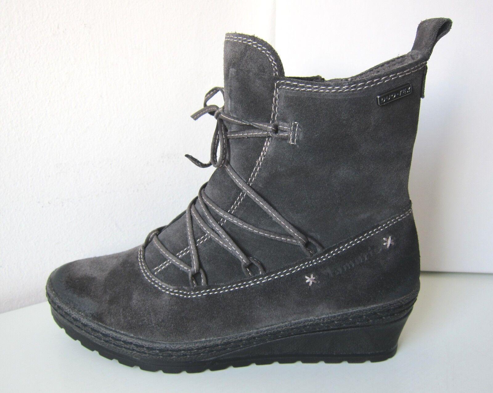 Keilabsatz Fellstiefel Stiefel warm grau  38 graphite Duo-Tex Tamaris Stiefel Grau