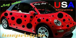 Image Is Loading Any Car 50 Spots Dot Ladybug Sticker Set
