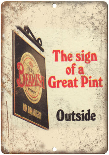 "Beamish Vintage Pup Ad 10/"" X 7/"" Reproduction Metal Sign E175"