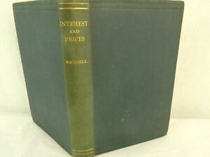 Interest-and-Prices-by-Knut-Wicksell-1936-Vintage-Hardcover-Book
