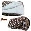 Luxury Warm Soft Fleece XL Size Throws With Sherpa Reverse Polka Dots Design