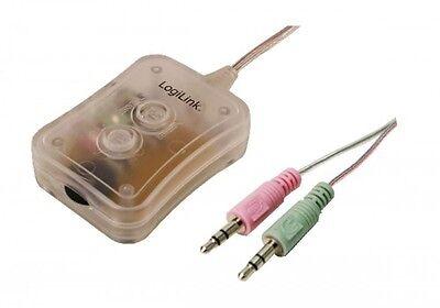 logilink headset speaker 2-fach audio desktop switch umschalter+lautstärkeregler