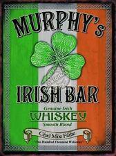 Murphy's Irish Bar, Pub Restaurant, Whiskey Clover Ireland, Small Metal/Tin Sign