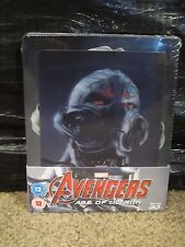 Avengers Age of Ultron 3D/2D Blu-Ray Lenticular Magnet Steelbook New Marvel