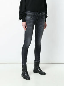 eb0f36fe3f408c R13 BOY SKINNY JEANS 24 in VINTAGE BLACK wash $345 Made In Italy ...