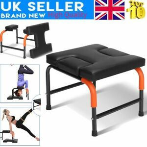 yoga headstand chair inversion bench exercise fitness