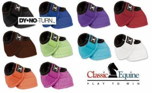New Classic Equine Dyno Turn No Turn Bell Boots Quality Horse Tack
