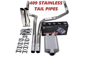 """04-14 Ford F-150 2.5/"""" Dual Exhaust Cherry Bomb Pro W// Black Tips"""