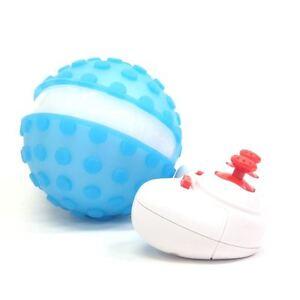 COLOUR-CHANGING R/C POKE BALL 2.4GHZ - BLUE/WHITE - 360 DEGREES ROTATION
