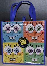 Spongebob Squarepants Nickelodeon Many Faces of Spongebob Reusable Tote Bag NEW