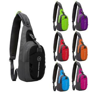 Sport Sling Chest Backpack Durable Nylon Waterproof Cycling Running Messenger