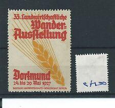 wbc. - CINDERELLA/POSTER - CF100 - EUROPE - WANDER AUSSTELLUNG - DORTMUND - 1927