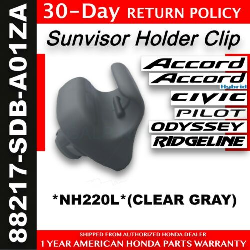 88217-SDB-A01ZA One 1 Genuine OEM Honda Clear Gray Sunvisor Holder