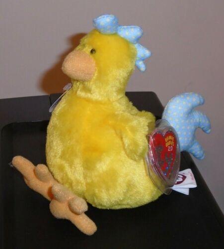 MWMT Ty Beanie Baby BB 2.0 ~ HENLEY the Chicken 6 Inch