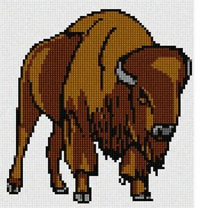 Bison Needlepoint Kit or Canvas (Animal)