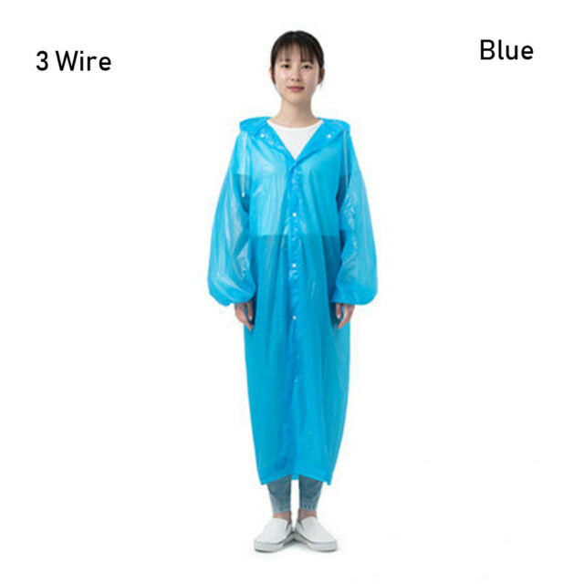 Men Outdoor Poncho Rain Cover Waterproof Raincoat Camping Travel Equipment