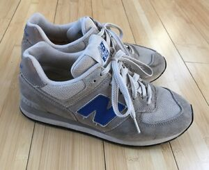 9f71dd61e0db8 Designer New Balance Unisex Kids Sneakers Shoes Gray & Blue Mod Size ...