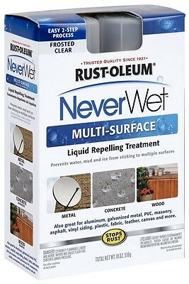 NEW Neverwet Never Wet 2 Part Spray Rust-Oleum 18oz