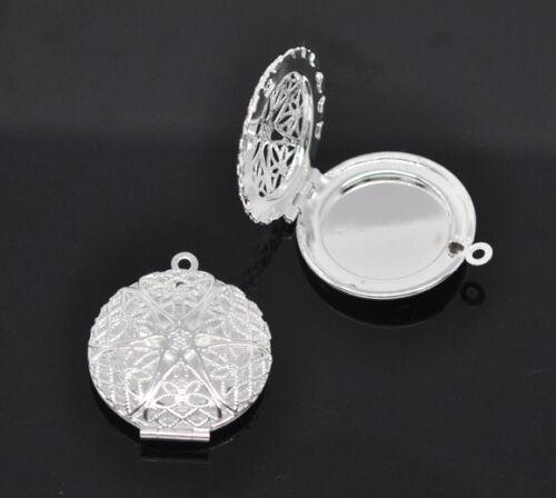 Photo Nice Frame Locket Pendants Silver Plated M1410