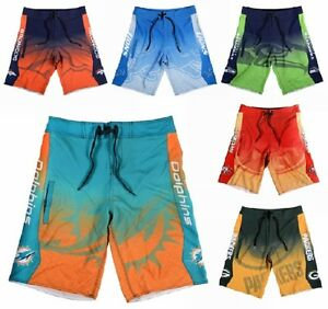 NFL-Football-Men-039-s-Gradient-Print-Board-Shorts-Beach-Swimsuit-Pick-Team