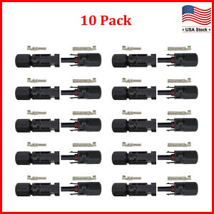 10-Pairs-NEW-Male-Female-M-F-Wire-Cable-Connector-Set-Solar-Panel-30A-Waterproof