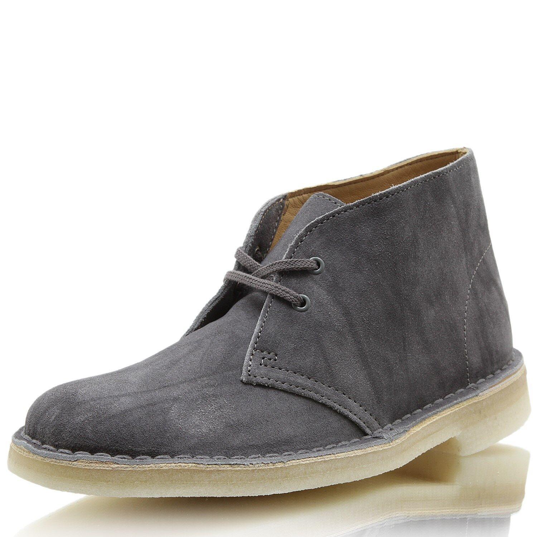 Clarks Desert bota gris Suede Suede Suede  ventas calientes