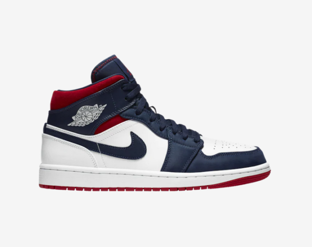 Dardos Ciudadano Iluminar  Nike Air Jordan 1 Mid SE Size 9 USA Olympic White/navy Blue/red 852542 104  for sale online | eBay