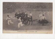 Corrida De Toros El Arastre Spain Vintage Postcard 480a