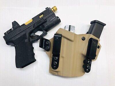 IronXHolsters AIWB Holster-Glock 19//23//17//22//32//26 MOS//Inforce APLc Light