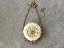 ANTIQUE FRENCHPORCELAIN VICTORIAN CARTEL PORCELAIN WALL CLOCK 8 DAY