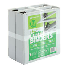 Members Mark 2 D Ring View Binder White 4 Pk