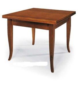 Tavolo Da Pranzo Quadrato Allungabile.Dettagli Su Tavolo Da Pranzo Quadrato Allungabile In Legno Massello Tinta Noce 80x80 160 Cm