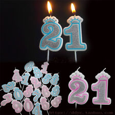 Item 2 Shinning Pink Blue Crown Number Candles Birthday Party Candle Cake Decor 0 9