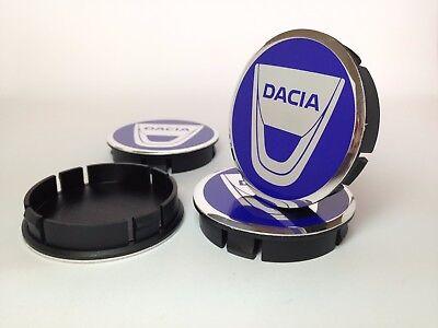 4st x Aluminium Nabenkappen Radkappe Alufelgen 60mm//55mm für DACIA