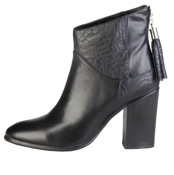 [NEU] Versace V1969 CECILIE schwarz Echtleder Stiefel Stiefelette Damenschuhe 41