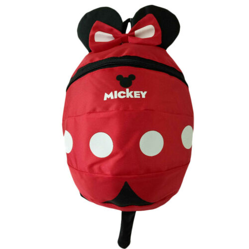 Jungen Mädchen Mickey Mouse Anti-Verloren Schulrucksack Kindergarten Rucksack DE