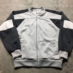 Details about 80s VTG ADIDAS ORIGINALS COLORBLOCK Track Jacket L Gray Black Trefoil 90s EQT