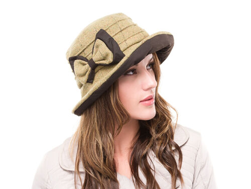 Brand New Femme Laine Tweed Outdoor Walking Pays Chapeau AIMEE BR73