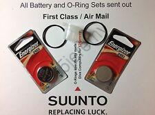 2 Energizer battery & O-ring set Suunto Vyper, Vytec, Gekko,Zoop & HelO2 +grease