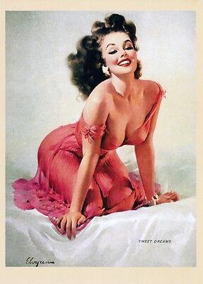Dream Girl Gil Elvgren Pinup Girl Art Vintage Poster